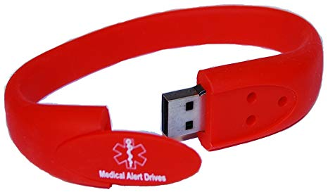 medic alert bracelet with flash drive