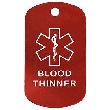 Medical Alert Bracelet Blood Thinner